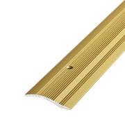 ЛУКА Порог разноуровневый ПР 02-900-02 золото (0,9м) 39,4мм перепад 2,2-10мм фото