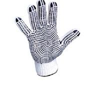 Перчатки рабочие 10 кл. Х/Б с ПВХ -Точка * Стандарт* фото