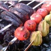 Организация питания туристов - овощи на гриле фото