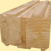 Брус клееный профилированный лиственница фото