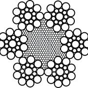 Канат двойной свивки типа лк-о конструкции 6x19 (1+9+9)+ 1 о.с. (ГОСТ 3077-80) фото