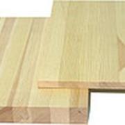 Мебельный щит сорт АВ ель толщина 40 мм Цельноламельный фото