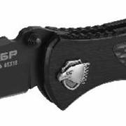 Нож ЗУБР ПРЕМИУМ МЕТЕОР складной, механизм ускоренного открытия, металлическая рукоятка, 200мм/лезвие 82мм. Артикул: 47718 фото
