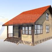 Строительство брусового дома 6х8 по проекту 2.68