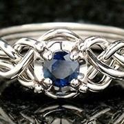 Золотое кольцо головоломка c Сапфиром от WickerRing фото