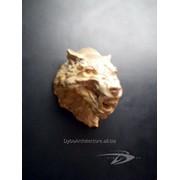 """Волк горельеф (маска) из камня Dybrilitt """"Desert Rock"""" со встроенным крепежём фото"""