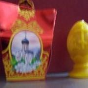 Свеча в форме яйца в подарочной упаковке вид 2