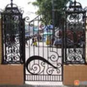Ворота и калитки из металла фото