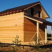 Дом из профилированного бруса 6х6м в полтора этажа фото