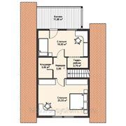 Мансардный дом площадью 144,87 кв.м.