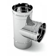 Трійник димохідний нержавійка 87° сталь: 0,5 мм фото
