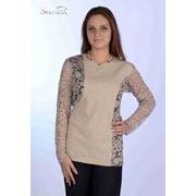 Блуза 1507-1 Бежевый цвет фото