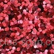 Красный глиттер-5 грамм-1 мм фото