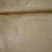 Ткань льняная ( с золотистым напылением)