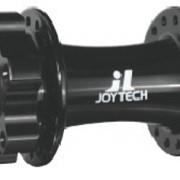 """Втулка передняя JOY TECH D853SE, МТБ, сплав алюминия, под диск, на гайках, 36отв., ось 3/8""""х100мм, чёрная фото"""