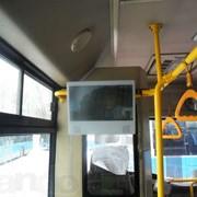 Реклама в салонах общественного транспорта в Алматы фото