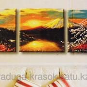 Картина по номерам Восход на горе Фудзияма фото