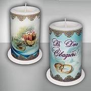 Свеча свадебная ароматическая В День Свадьбы фото