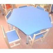 Набор детской мебели (стол + 6 стульев) фото