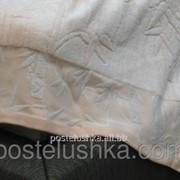 Простыня махровая 200*220 Романтика г/к бамбук Сливочный розовый фото
