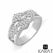 Золотое кольцо с бриллиантами 0,92 карат (Код: 18225) фото