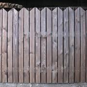Забор деревянный из штакетника фото
