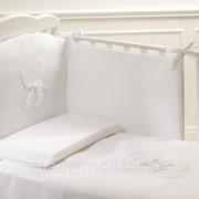 Комплект белья из 4-х предметов Teddy белый от Baby Expert фото