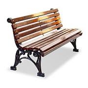 """Скамейка чугунная """"Классика"""", кресло, 0,6м фото"""