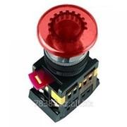 Кнопка AELA-22 (грибок красный неон) IEK (200) фото