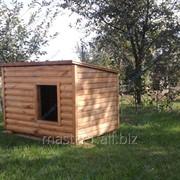 Изготовлю будку для собаки деревянную на заказ фото