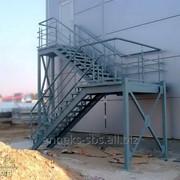Лестницы металлические, переходы, перекрытия, ограждения фото