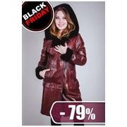 Пальто из кожи-меха, большой размер, ANTL M-032-rome фото