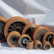 Восстановление полиуретанового покрытия приводных колес для складской техники. фото