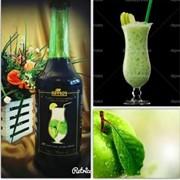 Сироп для коктейля со вкусом зеленого яблока фото