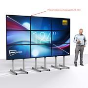 """Видеостена 3х3 из LCD панелей, 124"""" фото"""