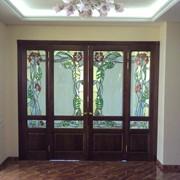 Серия витражей в дверных полотнах