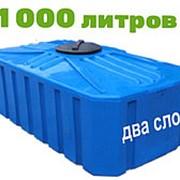 Резервуар для хранения токсичных веществ , питьевой воды и дизеля 1000 литров, синий, КВ фото