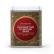 Красный чай Личи чай в банке фото