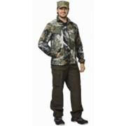 Куртка флисовая мужская КМФ Тёмный лес фото