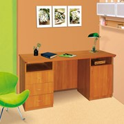 Стол письменный, стол письменный двутумбовый, столы письменные, письменные столы, двутумбовый письменный стол, мебель офисная, офисная мебель. фото