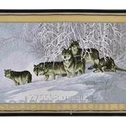 Набор для вышивки картины Волчья Стая 75х45см фото