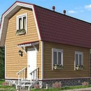 Дом из бруса с мансардой 4х6 метров фото
