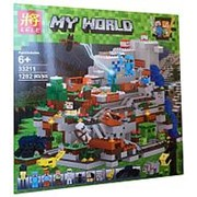 Конструктор Майнкрафт My World «Мини Горная пещера» 33211 фото