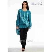 Блуза 508-1 Бирюза цвет фото