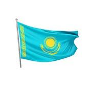 Флаг РК 1,5 х 3 м (сетка) фото
