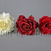 Тканевый цветок розы 11см/1шт 570356 фото