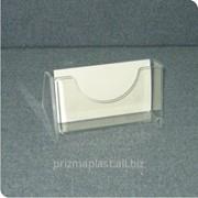Кармашек акриловый настольный для визитных карточек фото