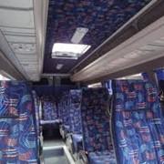 Перетяжка салона автобуса фото