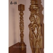 Резной столб для лестницы Л-18 из дуба, бука, ясеня, сосны фото