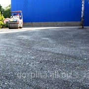 Строительство дороги из асфальтовой крошки фото